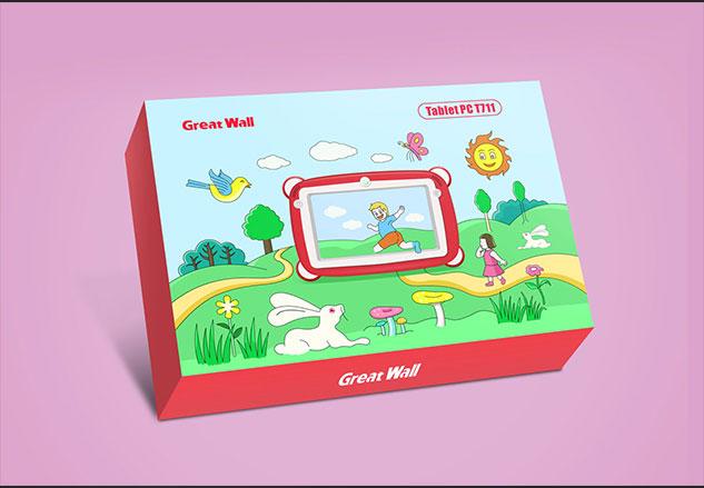 长城-儿童平板电脑包装设计